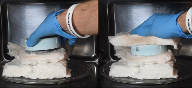 Microwave Cure the Water-glass
