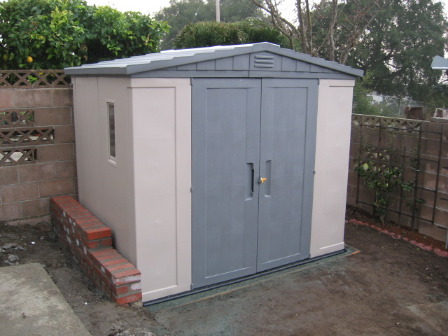 Ground Pad for Storage Shed