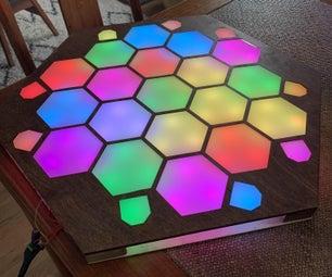 LED-driven, Laser Cut Settlers of Catan Board