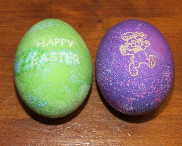 Laser Engraved Easter Eggs