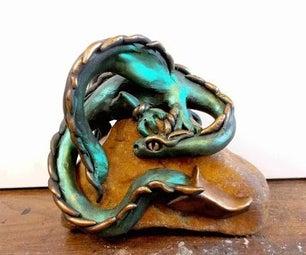 DIY Dragon on a Stone in Polymer Clay