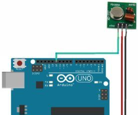Interfacing RF Transmitter and Receiver Module With Arduino