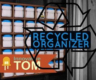Recycled Hardware & Parts Bin Organizer!