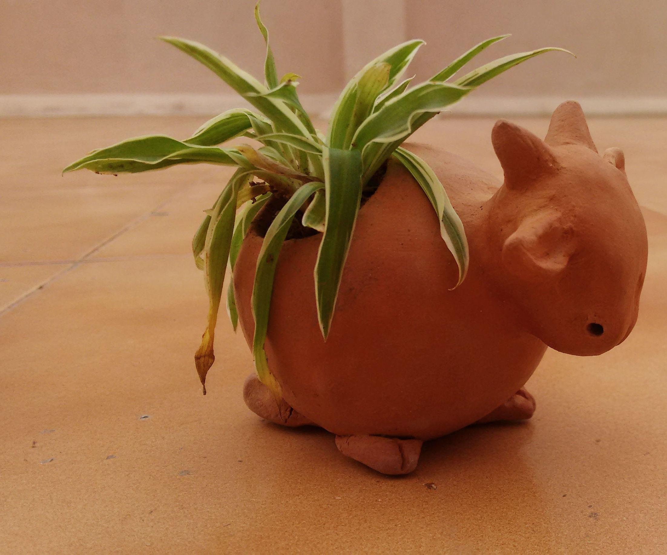 Globe clay cow