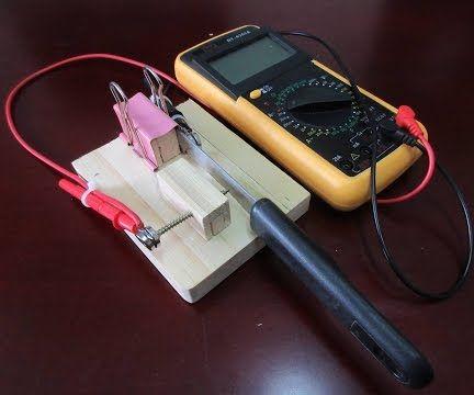 Morse Code Keyer Made From Steak-knife and Multi-tester