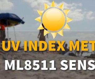 UV Index Meter Using the ML8511 ULTRAVIOLET Sensor Arduino