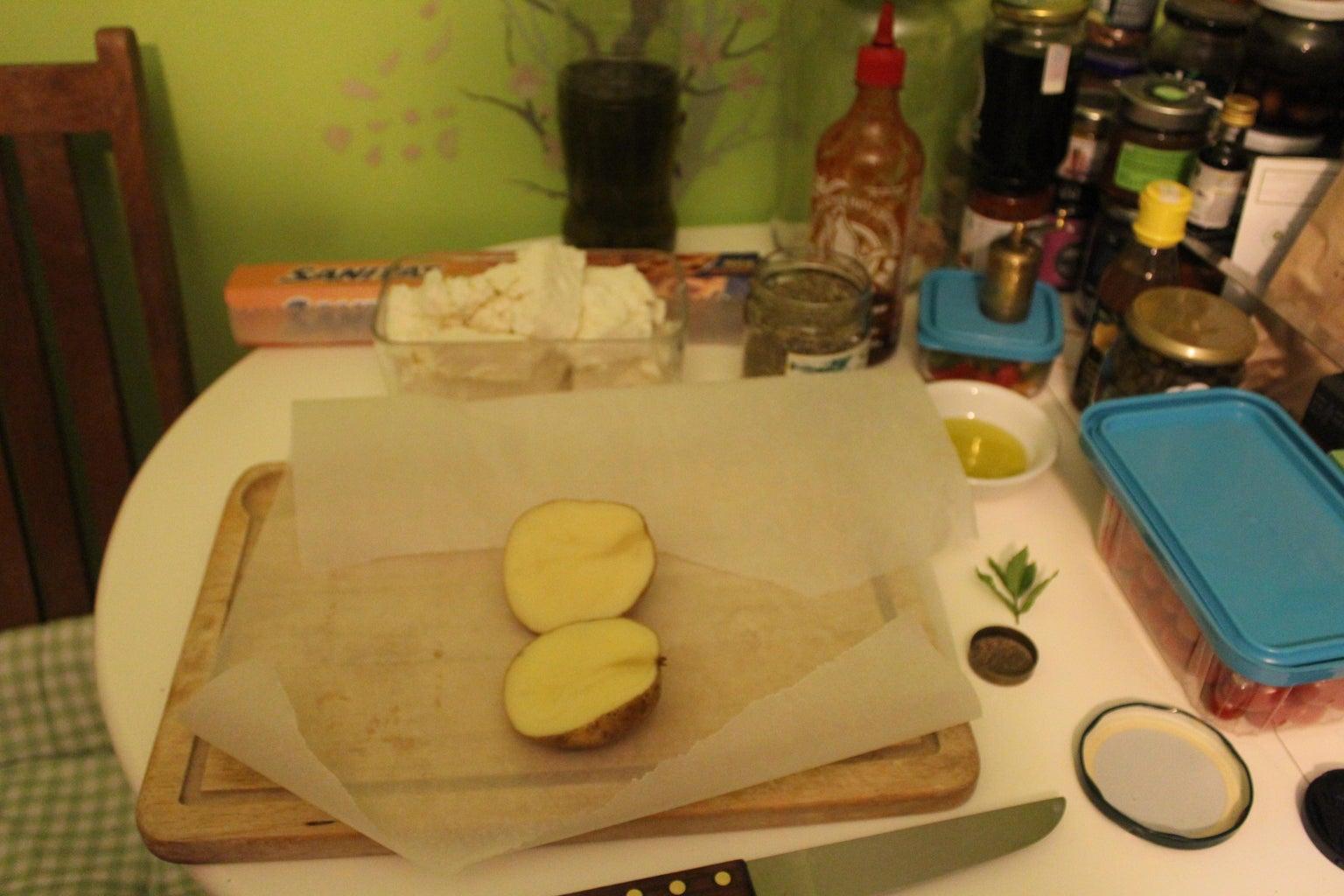 Cut Potato in Half