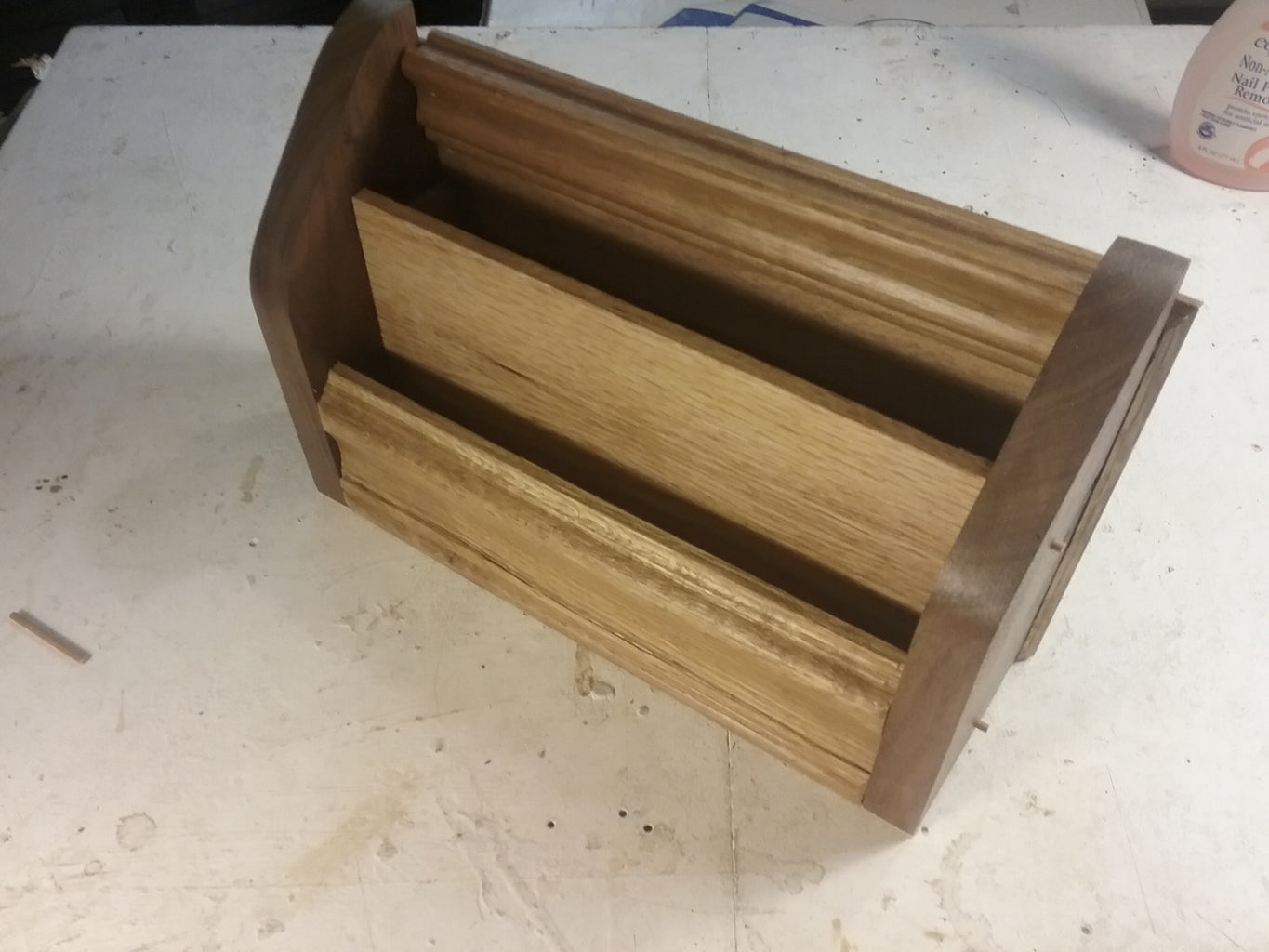 Dowels to Hold Tray and Finishing Touches