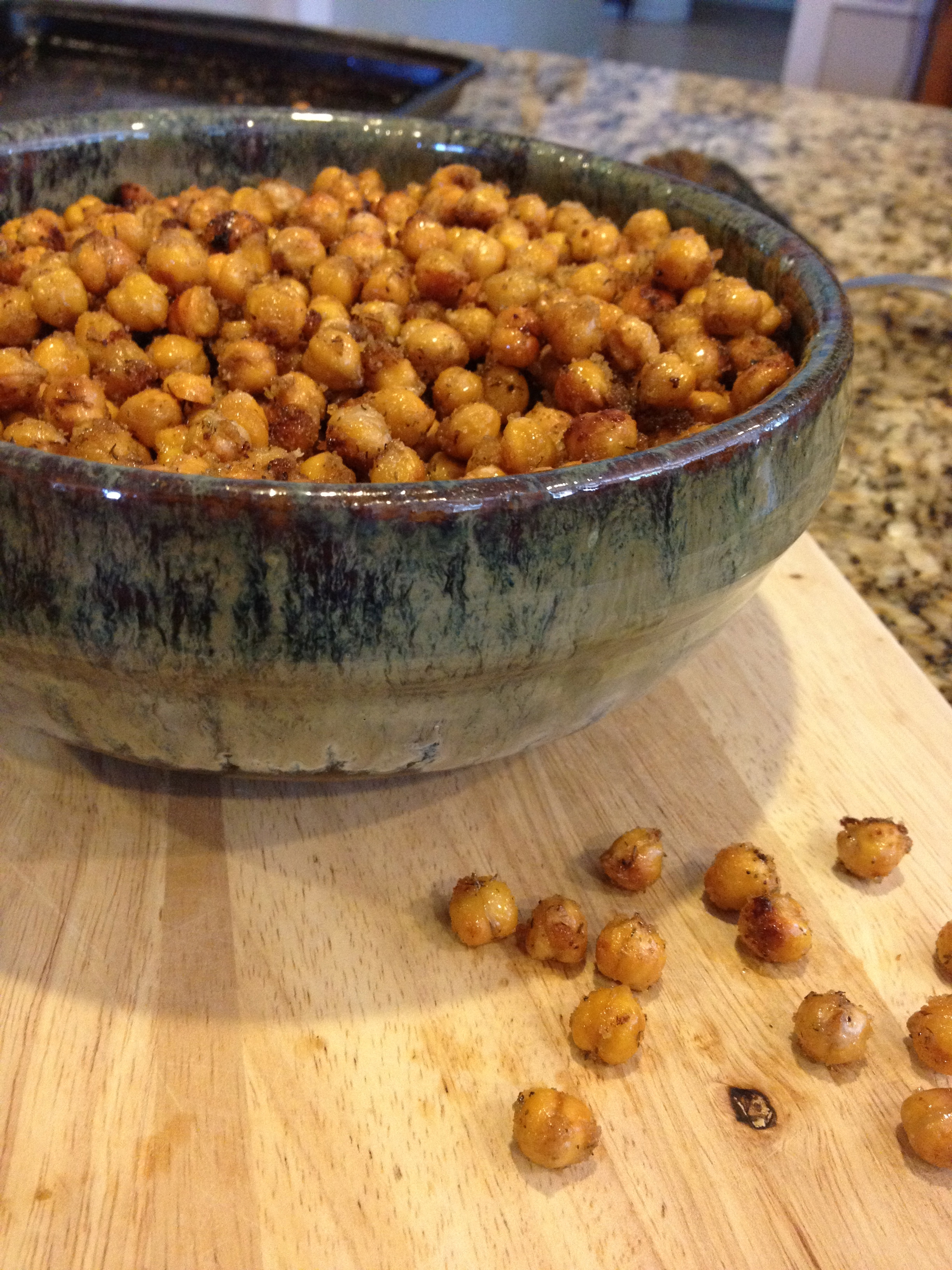 Roasted Ranch Chickpea Poppers