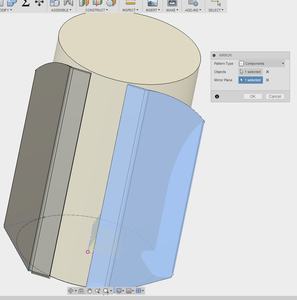 Create a Mirror of the Main Flange