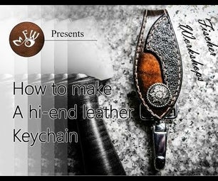 How to Make a Gorgeous Leather Keychain