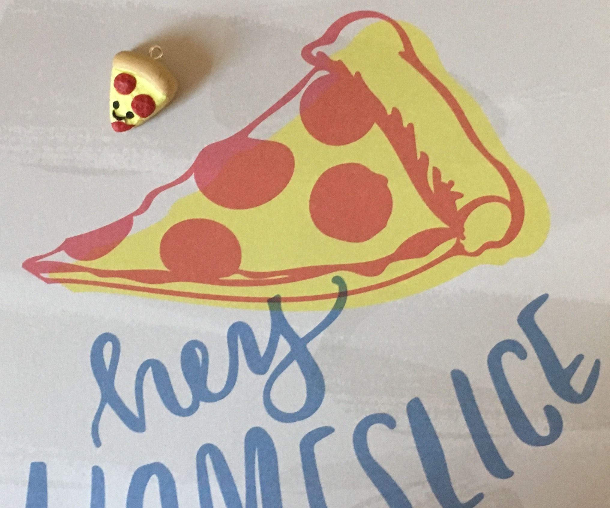 Kawaii Pizza Charm