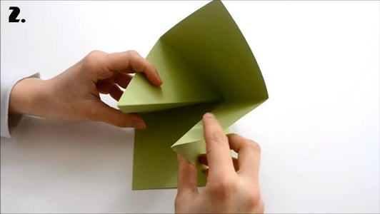 Take One Green Square and Fold It.