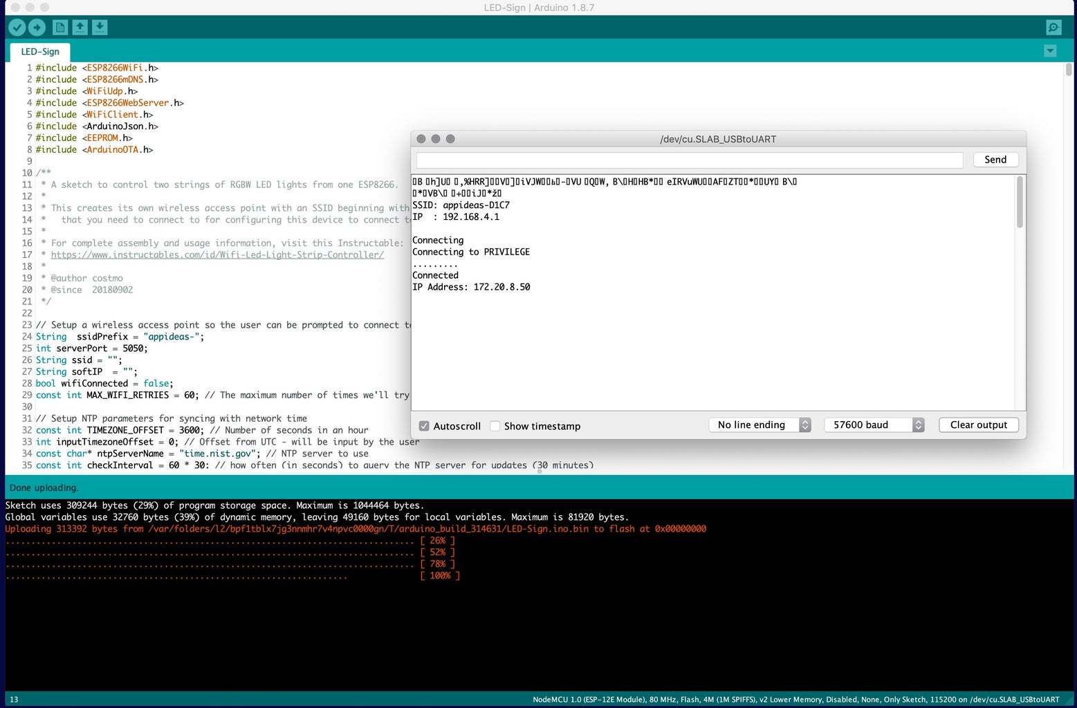 Load the Arduino Code