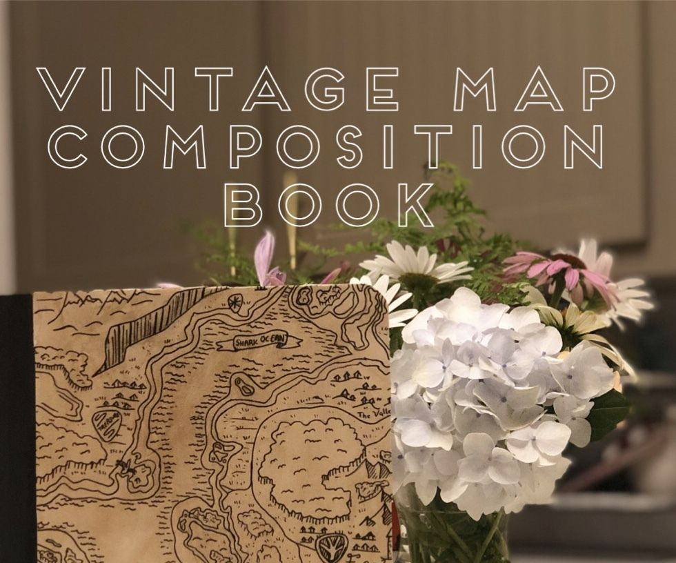 Vintage Map Composition Book