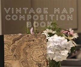 Vintage Map Composition Book