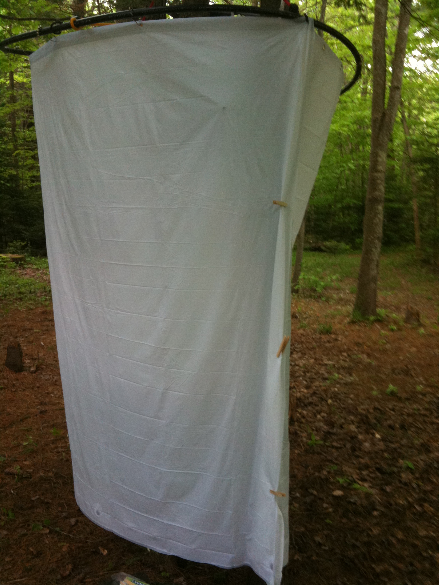 Diy Camp Shower Enclosure 3 Steps Instructables