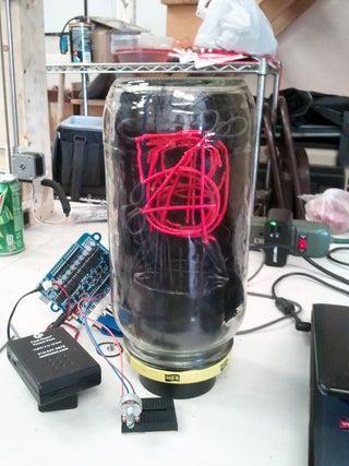 January 2014 Build Night: EL Wire Nixie Tube
