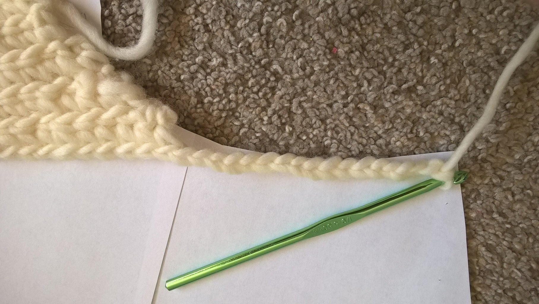 Crocheting the Front Panel