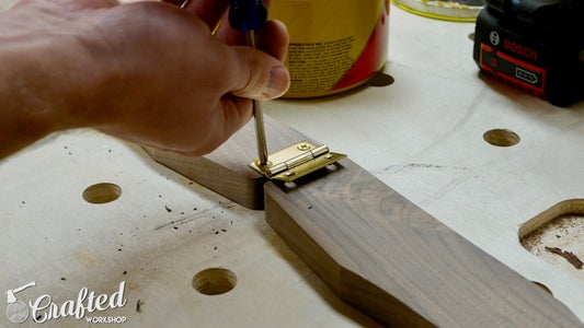 Install Hinge, Drill Holes for Cord & Roundover Edges