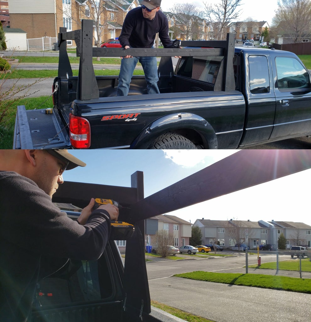 Securing the Rack on the Truck Bed