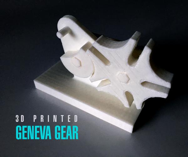 3D Printed Geneva Gear