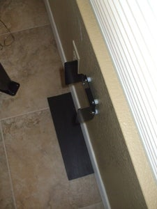 Mount Support Bracket on the Wall