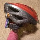 Safety light on bike helmet