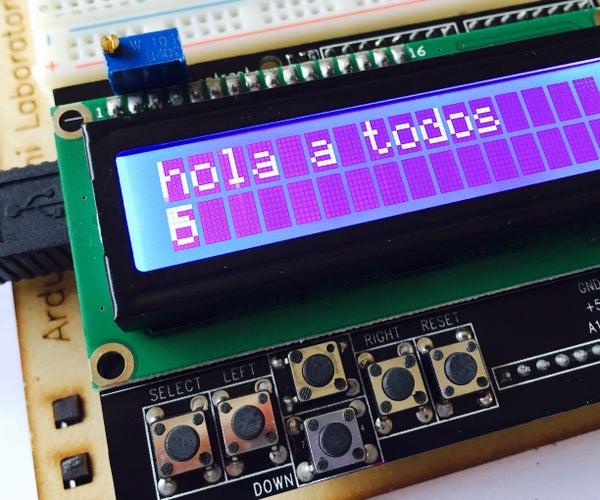 Arduino Con Pantalla LCD 1602