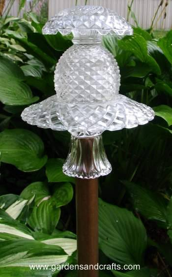 Garden Art - Glass Totems