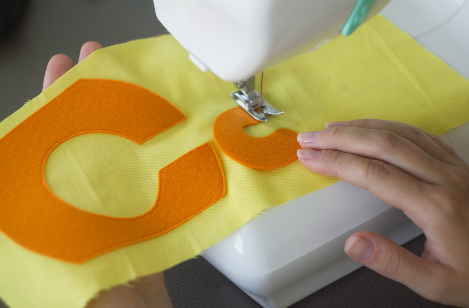 """Sew the Felt Elements Into the Fabric. Part """"C"""""""