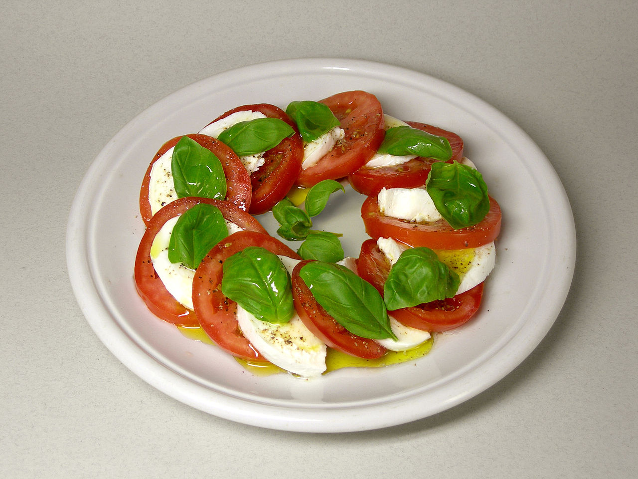 The Caprese Salad - A refreshing and tasty meal