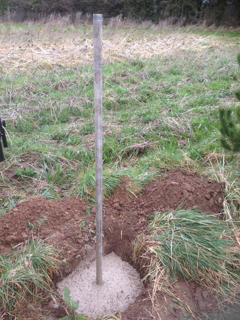 Building and Installing  the Pole for Wind and Rain Sensors and GPRS Antenna