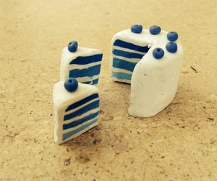 Polymer Clay Easy Blueberry Cake
