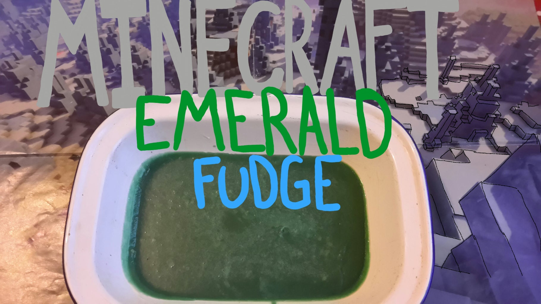 Minecraft Emerald Fudge Blocks!