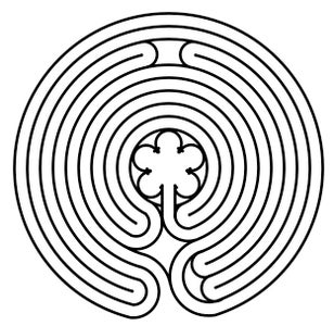 The Finished Transition Labyrinth Pattern!