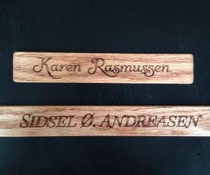Laser Engraved Wooden Name Signs