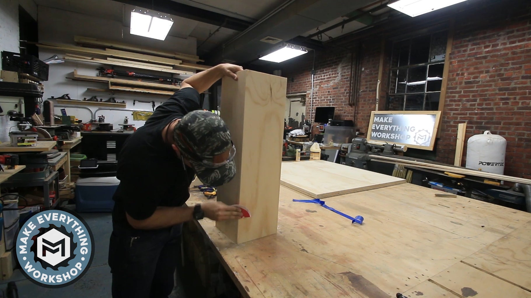 Assemble the Table Leg Column
