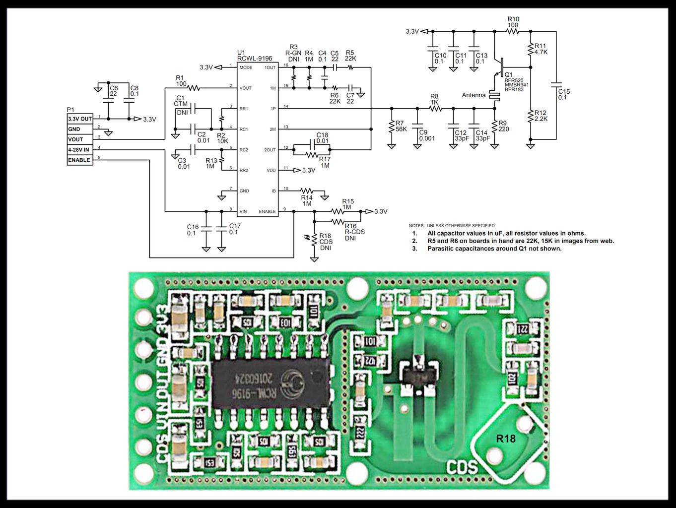 Proximity Sensing With RCWL-0516 Doppler Radar Module