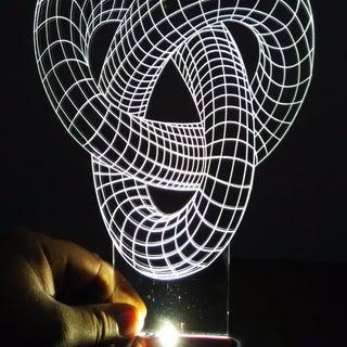 PI Edge Lit LED Plexiglass Light