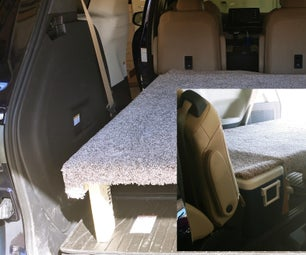 Upcycled Crate/Pallet Minivan Camping Bed