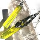 Yellow Citrine Faux Gemstone Points & Pendants