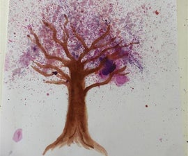 How to Make a Tree Using Watercolour!