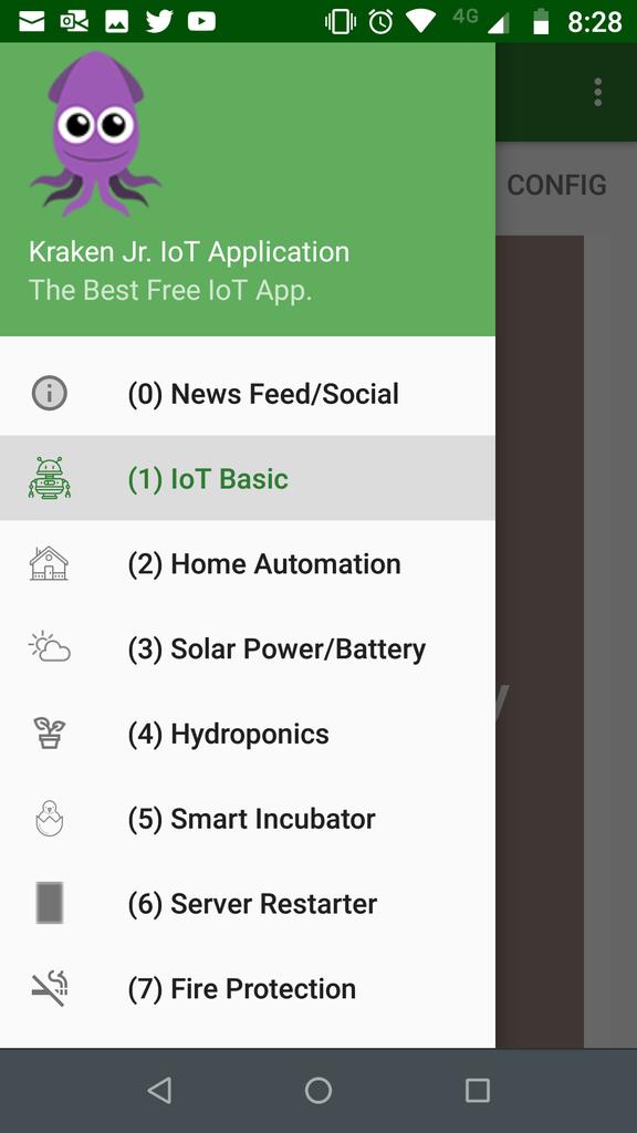 Selecting the Basic IoT Menu