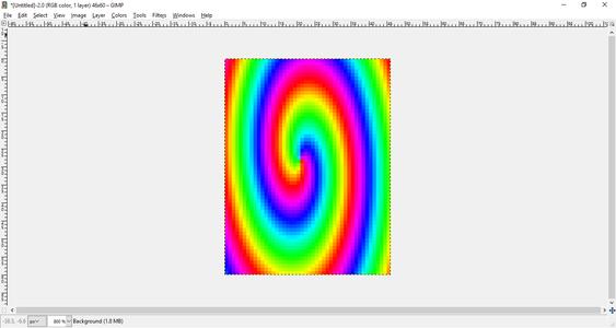 Convert Image to Skittle Pixels Using GIMP