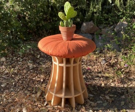 Toadstool: Mushroom-Inspired Rocking Stool