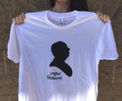 DIY Custom Screen Printed Alfred Hitchcock T-Shirt