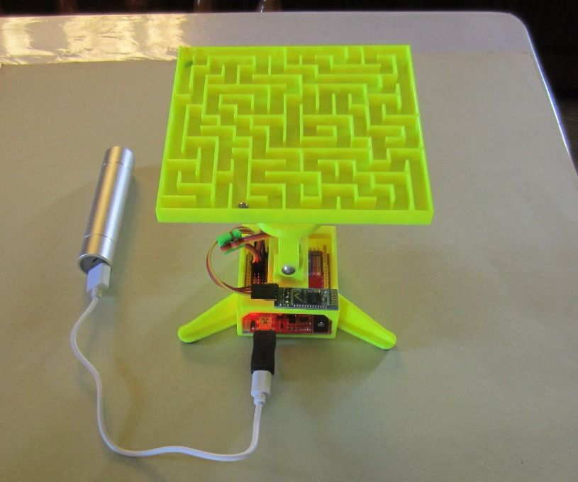 3D printed maze controlled by your Android device