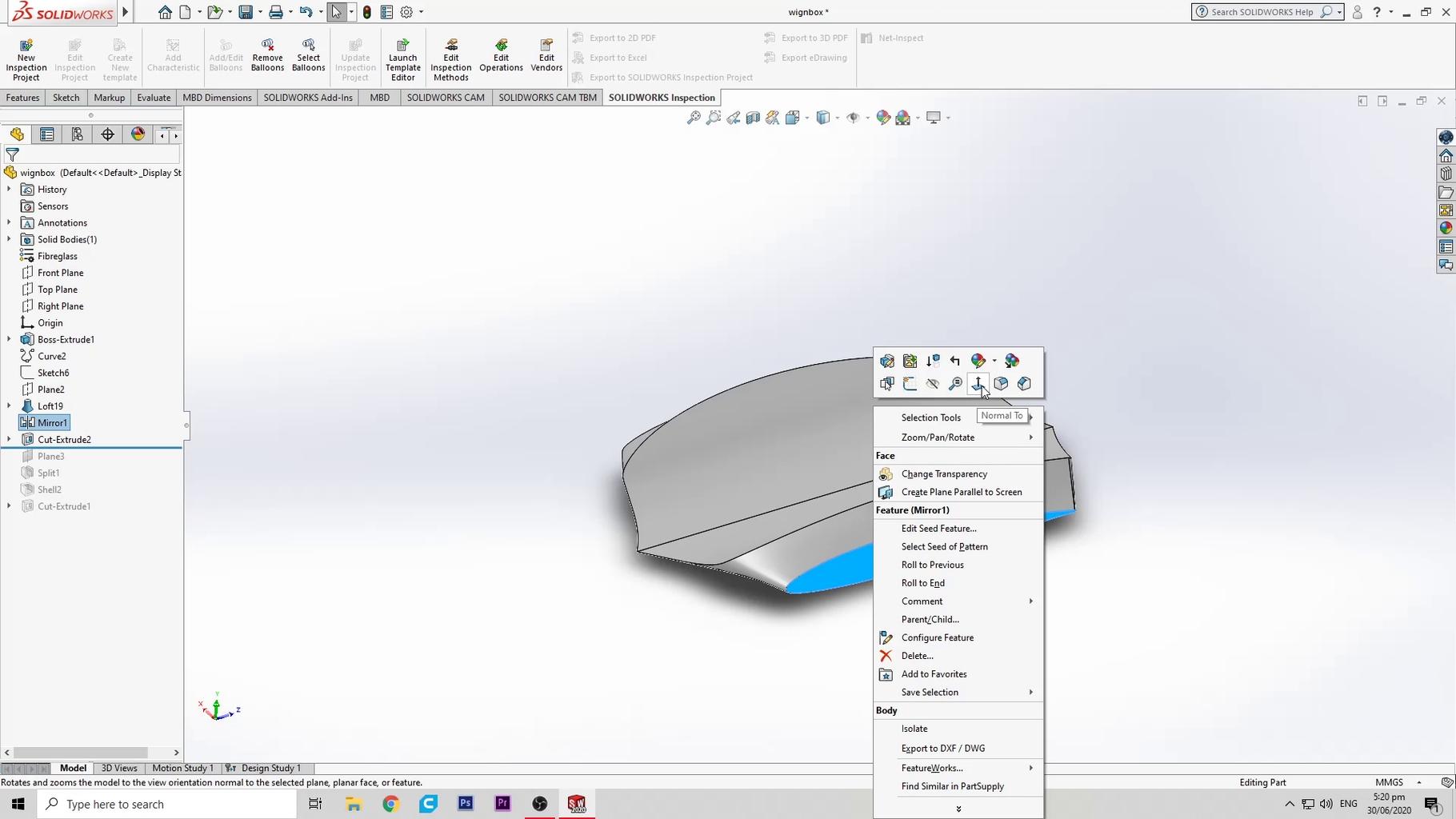 Splitting the 3d Model