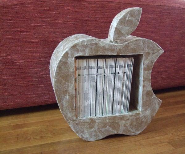 Cardboard Furniture As Apple's Logo.